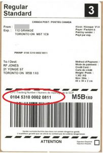 Canada Post Lost Tracking Number
