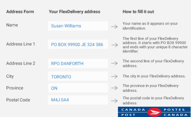 Flex Delivery Address