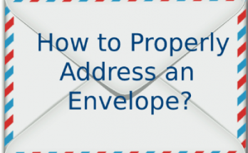 How to Properly address an envelope