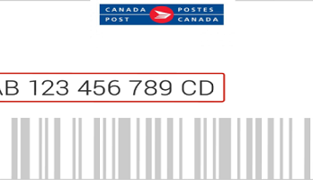 Canada Post Tracking Number