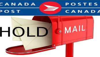 Canada Post Hold mail