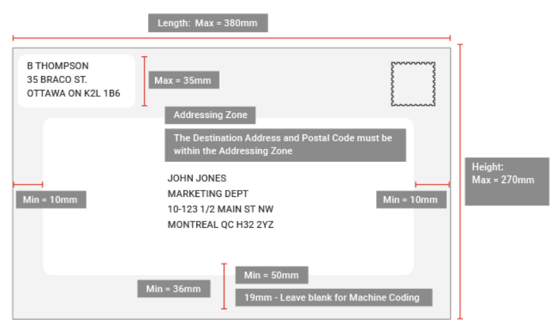 How To Properly Address An Envelope Or How To Address Mail Canada Post Tracking