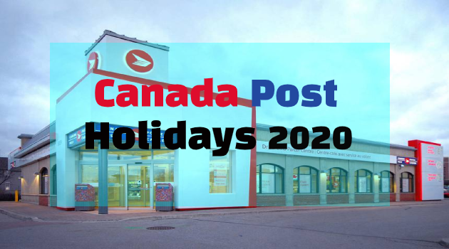 canada post holidays 2020