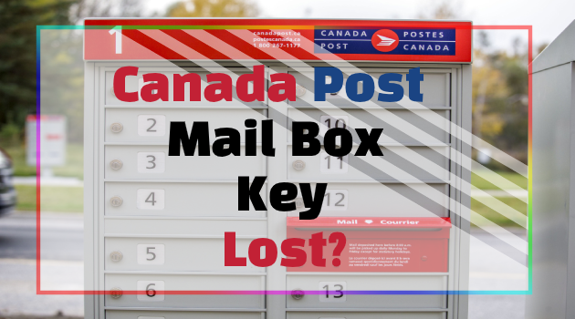 Canada Post Mailbox Keys Lost