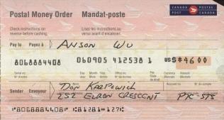 Canada Post Money Order
